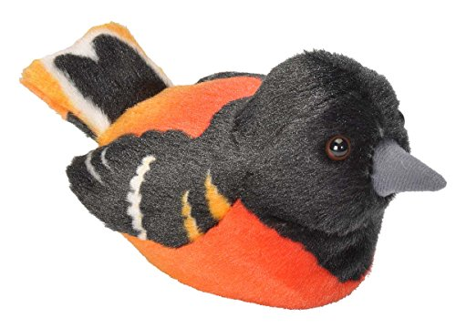 Wild Republic Audubon Birds  Baltimore Oriole Plush with Authentic Bird Sound, Stuffed Animal, Bird Toys for Kids and Birders