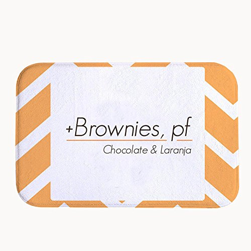 41 Chocolate Mold (TrUiuiui Super Absorbent Non-slip Brownies Chocolate & Laranja Bath Mat Coral Fleece Area Rug Door Mat Entrance Rug Floor Mats for Front Outside Doors Entry Carpet 40 X 60 cm)