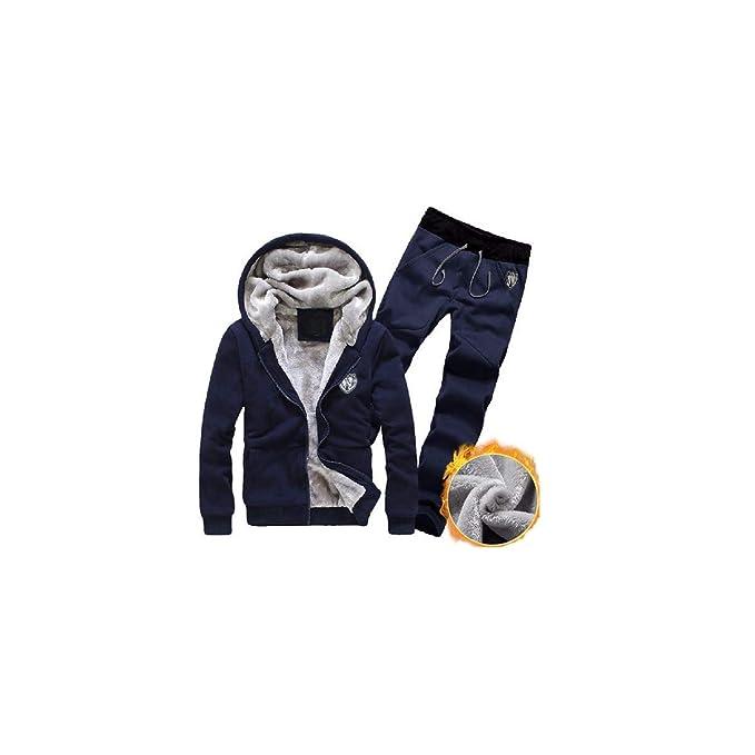 BaZhaHei Invierno Abrigo Casual Sudadera con Capucha Chaqueta de Lana Capa Jacket Pullover Suéter Tipo Cardigan con Capucha para Hombre pequeño ...