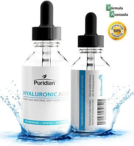 Acido Hialuronico Puro Y Natural Antiarrugas - Suero Para Las Arrugas  Reduce Las Manchas Y Lineas De La Piel - Aumenta El Colgeno Naturalmente Y Ayuda A Rejuvenecer Su Piel - 100% Garantizado