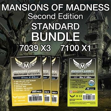 Mayday Games Mansions of Madness 2nd Edition Game Accessory- Standard Card Sleeve Bundle (Edition Card Sleeves)