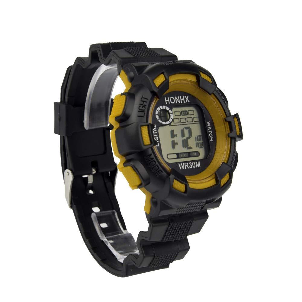 BBestseller Reloj Electrónico Impermeable de Multifunciones Pulsera de Moda Podómetro para Hombre,Relojes Hombre Deportivos (Negro): Amazon.es: Relojes