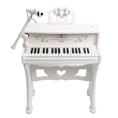 MLMHLMR Teclado, Piano, niño Principiante, Juguete multifunción, Entrada de Regalo para niños y niñas. Teclado para niños (Color : White): Hogar
