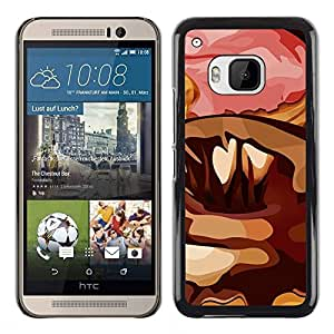 Be Good Phone Accessory // Dura Cáscara cubierta Protectora Caso Carcasa Funda de Protección para HTC One M9 // Random Art Modern Donut Pink Sugar Chocolate
