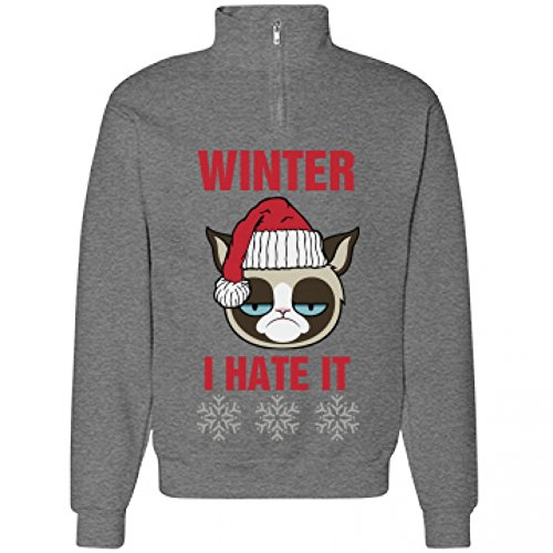 A Grumpy Cat Winter: Jerzees Cadet Collar Sweatshirt - Cadet Collar Oxford