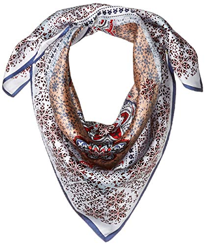 - Vince Camuto Women's Medallion Neckerchief, blue/red, O/S