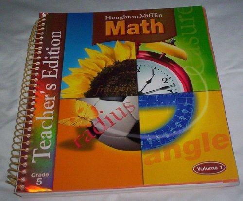 Houghton Mifflin Math, Teacher's Edition, Vol.1, Grade 5