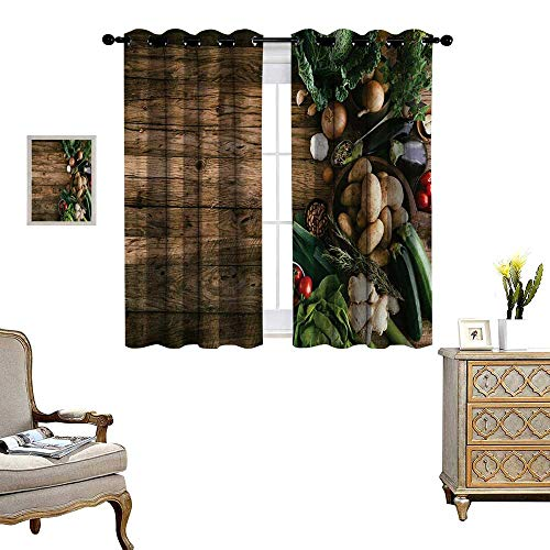 Harvest Window Curtain Fabric Various Vegetables on for sale  Delivered anywhere in Canada