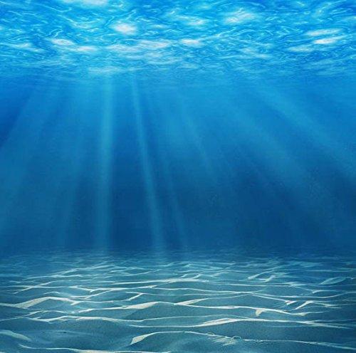 6x8ft Vinyl Deepwater Blue Ocean Underwater Photography Backdrop Background