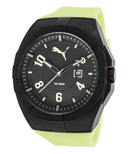 PUMA Quartz Plastic and Polyurethane Casual Watch, Color:Yellow (Model: PU103501010)