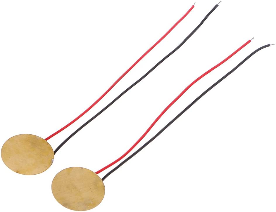 William-Lee 10 Pcs Piezoelectric Piezo Sounding Element Ceramic Wafer Plate Dia 15mm For Buzzer Loudspeaker Used In Electronic Sound Meters Household Appliance Easy Installation