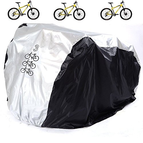 Bicycle Cover, RilexAwhile Waterproof Bike Protector Dustproof and Sunscreen with Lock Hole for Mountain Bike,Road Bikes and Electric Bike by RilexAwhile
