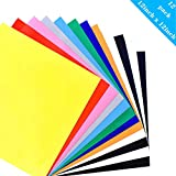 Heat Transfer Vinyl - 12'' x 12'' - 12 Sheets - Iron On HTV for T Shirts (10 Colors)