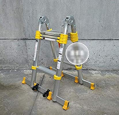 Ladder Escaleras Plegable Y Telescópica (Portátil,Multi-Propósito,Extensible,Aluminio,con Bisagras,Certificada por EN131,Capacidad De 150kg, Casa,Desván Y Oficina),1.6+1.6m-Multi-functionLadder: Amazon.es: Hogar