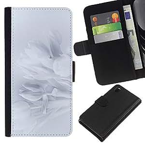 EJOY---La carpeta del tirón la caja de cuero de alta calidad de la PU Caso protector / Sony Xperia Z3 D6603 / --Pétalos Snowdrop Pétalo Sombra Sutil