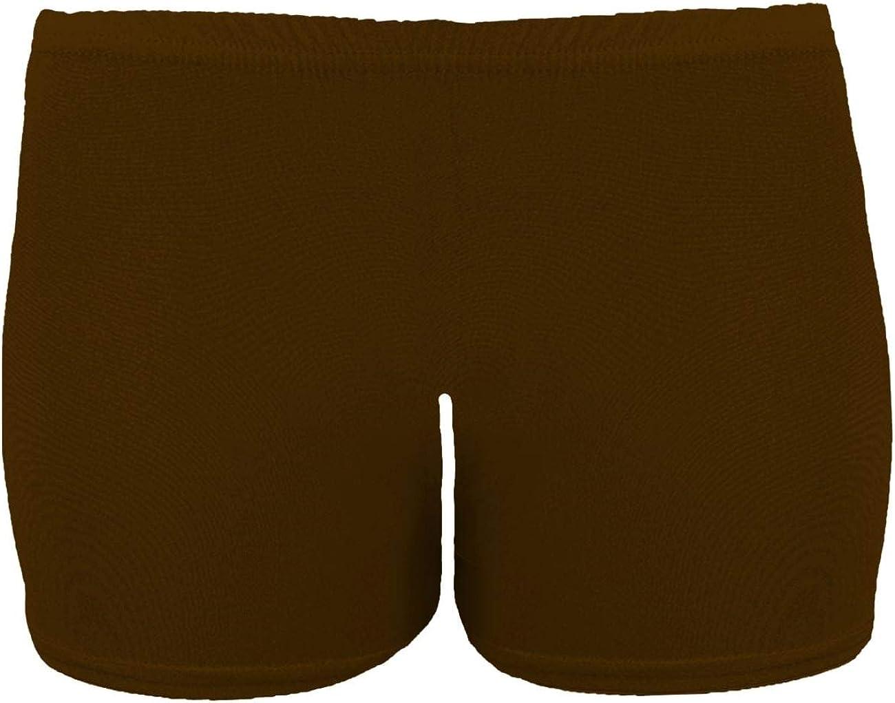 janisramone Girls Kids New Plain Neon Stretchy Gymnastics Dance Shorts School Children Party Wear Hot Pants 5-13 Years