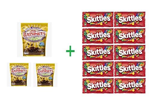 raisinets-milk-chocolate-california-raisins-standup-bag-36-oz-pack-of-3-10-pack-of-skittles-217-oz