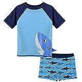 HUANQIUE Baby Boy Swimsuit Rash Guard Swimwear Two