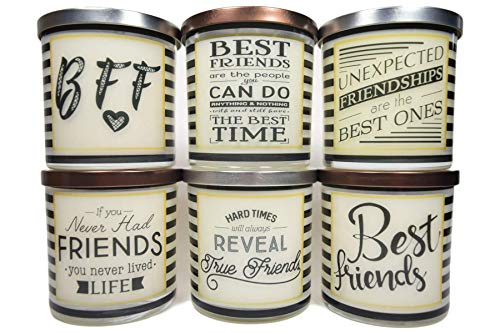 Best Friends Message Candle - Natural Scented 12oz Soy Candle, Gift Idea, Message Candle, Scented Candles Handmade, Personalized candles