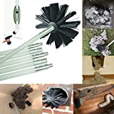 SUJING Dryer Duct Cleaning Kit, Lint Remover, Extends Up To 12 Feet, Synthetic Brush Head