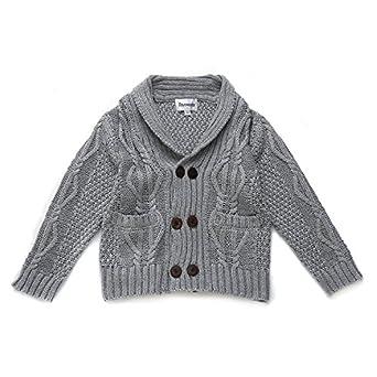 Amazon.com: DOYOMODA Baby Boys 100% Cotton Cable Knit Cardigan ...