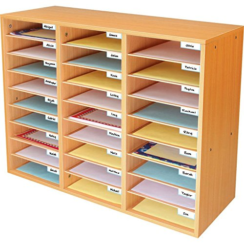 - Really Good Stuff Mail Center - 1 Oak Classroom Mail Center with 27 Slots - Keep Your Classroom or Office Organized, Durable, Easy Assembly, 159790OA