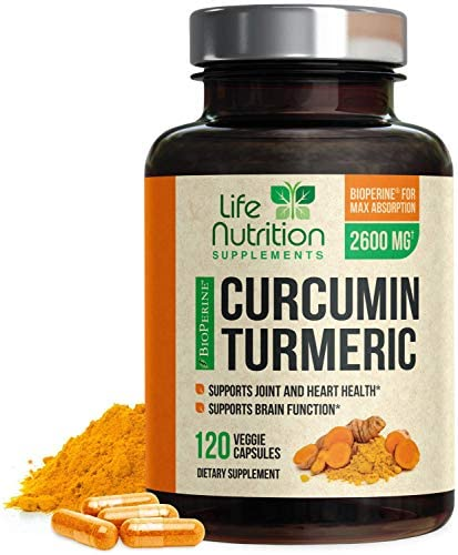 Turmeric Curcumin 95 Standardized Curcuminoids 1950mg with BioPerine for Best Absorption, Made in USA, Best Vegan Joint Support, Turmeric Supplement Pills by Natures Nutrition – 120 Capsules