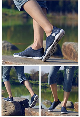 DREAM PAIRS Mens Slip On Athletic Water Shoes Navy I9GNwh2Wj0
