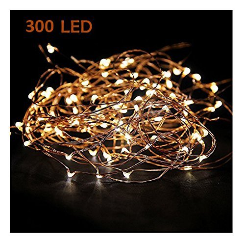 Super Long 52ft 300led Starry Christmas String Lights for Garland, Wreath, Wedding, Party or DIY - Lights Lighted Christmas