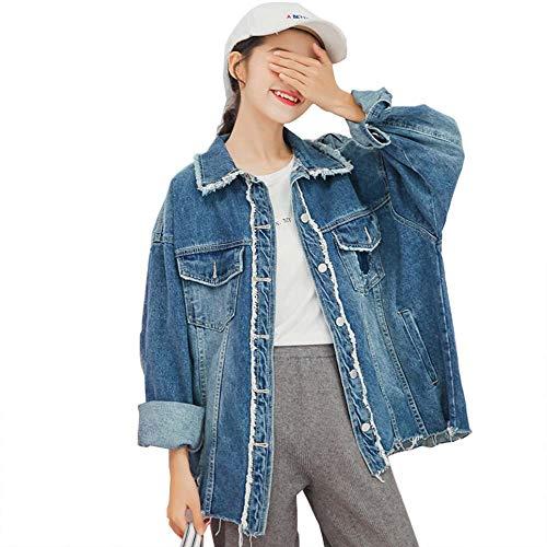 Lunga Blue Jeans Signore Manica In Le Occasionale Giacca Lavata Di 9 Denim Ogobvck Donne nvY7XqU0x