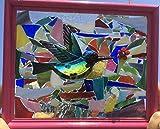 Hummingbird Stained Glass Suncatcher Window Art