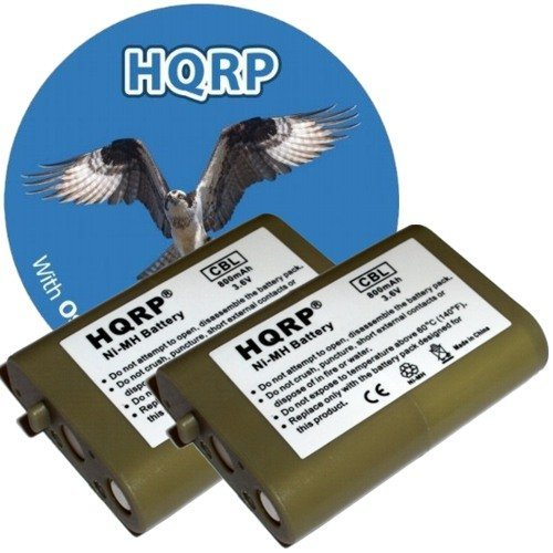 HQRP TWO Phone Batteries for Vtech i5808 / 5808, i5858 / ...