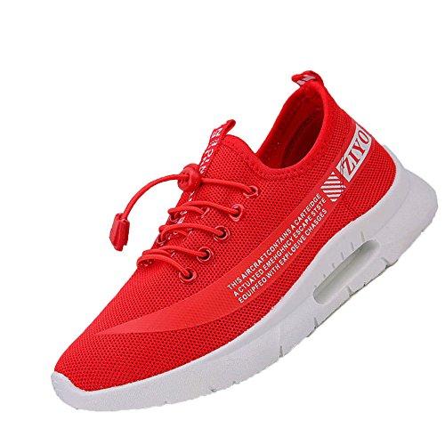 Señoras Zapatos De Senderismo Mujeres Zapatos Ligeros Para Caminar Zapatillas De Deporte Transpirables Zapatillas De Malla Mayor Comodidad Rojo
