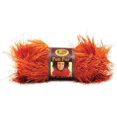 Lion Brand Yarn 320-135 Fun Fur Yarn, Terracotta