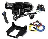 KFI SE45-R2 4500lbs Winch Combo Kit - Winch, Mount Bracket, Wiring, Switches, Remote - 2014-2018 Polaris 1000 RZR