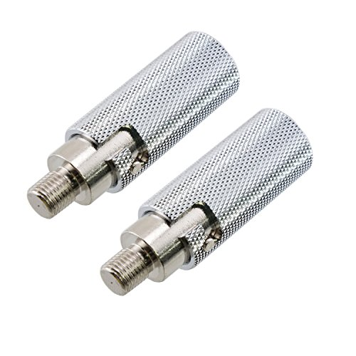Pro Trucker LOT of 2 Amateur Radio CB Antenna Chrome Quick Disconnect for 3/8-24 Threads for CB and HF/VHF Ham Radio Antennas Such as Hustler HamStick and Others ()
