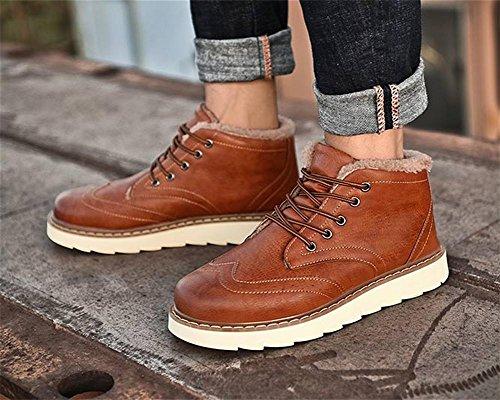 occasionnels neige tendance des la des La jeunes chaleur hivernale de hommes bottes brown de rembourr¨¦s 43 OqUWwf7x