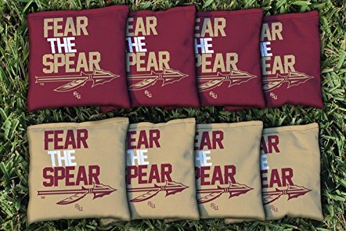 Victory Tailgate 8 Florida State FSU Seminoles Fear The Spear Regulation All Weather Cornhole Bags