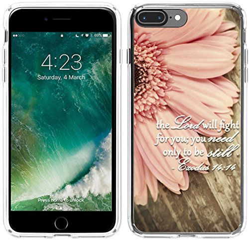 Case for iPhone 7 Plus Christian Quotes,Hungo Compatible TPU Silicone Protective Cover Replacement for iPhone 7 Plus/8 Plus Bible Verses Theme
