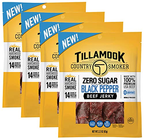 Zero Sugar Beef Jerky Black Pepper Flavor, 8.8 Ounces