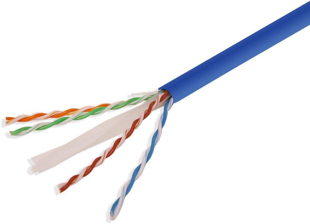 LOGICO Cat6 UTP Bulk Ethernet Network Cable 23AWG 550Mhz Pure Copper Riser Gray 1000ft