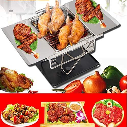 Barbecue en acier inoxydable Grill pliant BBQ Grill Portable Barbecue Barbecue au charbon camping en plein air Poêle Voyage pique-nique Poêle
