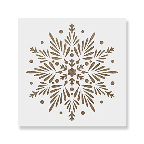 Snowflake Stencil - Reusable & Durable Mylar Stencils Made in USA