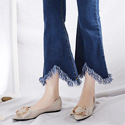 Punta Asakuchi Microfibra Zapatos Gran 2018 y de Ons Verano Casual Tama de Segundo Bottom Slip Estrecha Mujer o de Primavera Mocasines de Sq00xOpCw