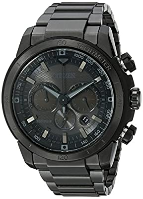 Citizen Men's Eco-Drive Chronograph Stainless Steel Watch with Date, CA4184-81E from Citizen Watch Company