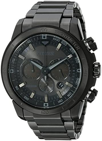 Citizen Men s Eco-Drive Chronograph Stainless Steel Watch with Date, CA4184-81E