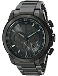 Citizen Mens Eco-Drive Chronograph Stainless Steel Watch with Date, CA4184-81E