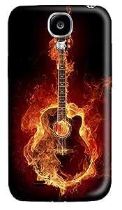 Samsung S4 Case Flame Art Guitar 3D Custom Samsung S4 Case Cover