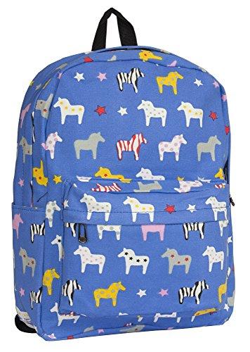 Print pour dos Plant main beige Beige femme au Sac Big Shop amp; Animal à porté Blue Handbag Parrot qawxp4U8g