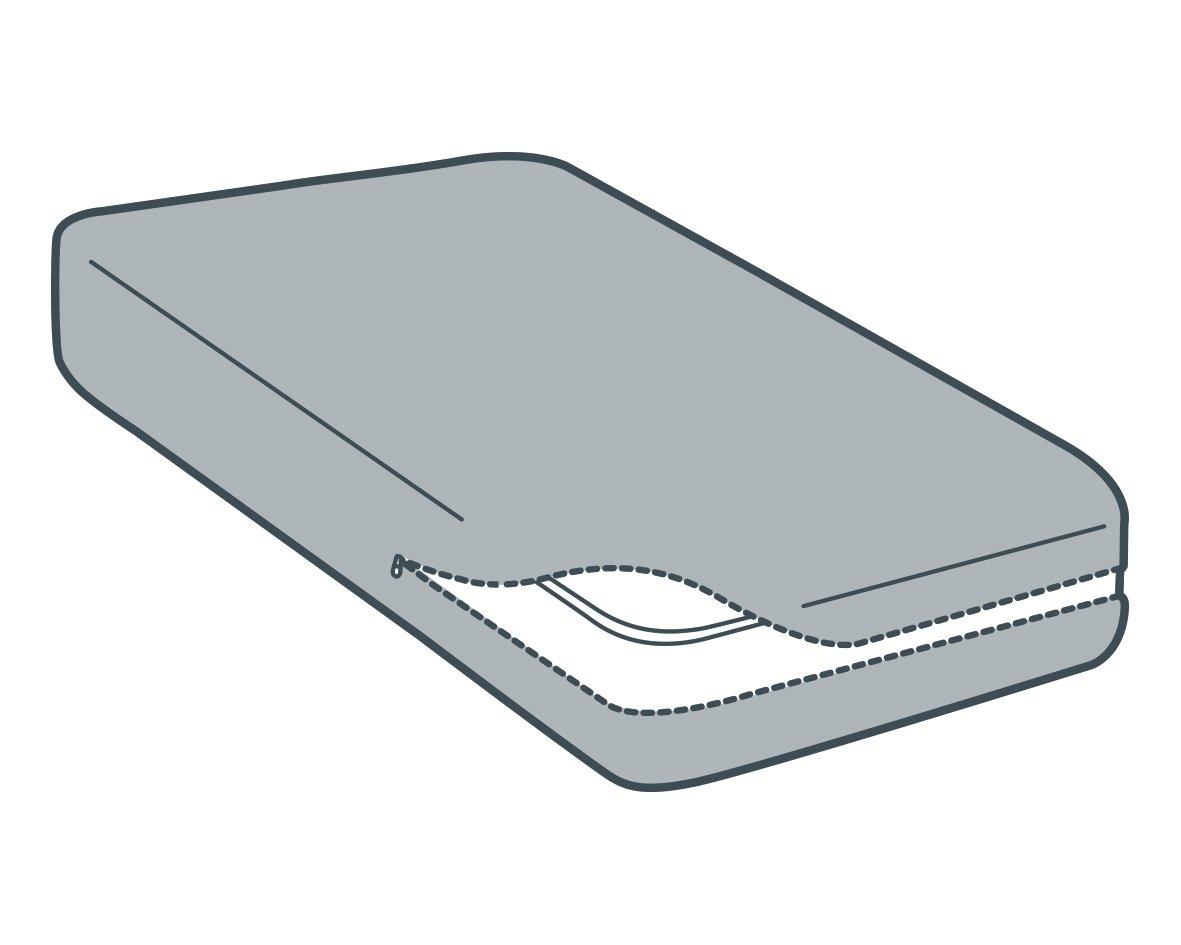 Tural - Funda de colchón de Cuna Extra elástica y Resistente. Cierre con Cremallera. Talla 60x120cm: Amazon.es: Hogar